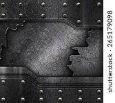 crack metal background template  | Shutterstock . vector #265179098