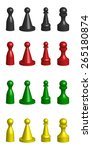 vector 4 color 4 kind of chess... | Shutterstock .eps vector #265180874