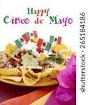 happy cinco de mayo party table ... | Shutterstock . vector #265184186