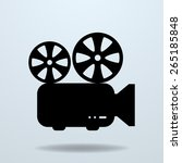 icon of film projector. cinema... | Shutterstock .eps vector #265185848