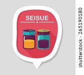kitchenware sauce bottle flat... | Shutterstock .eps vector #265190180
