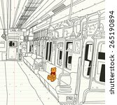 metro's teddy bear   Shutterstock .eps vector #265190894