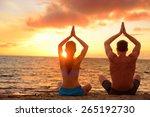 Yoga Couple Relaxing Doing...