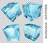 set of four transparent ice... | Shutterstock .eps vector #265193306