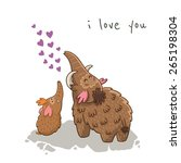 I Love You. Beautiful Card Wit...
