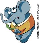 shy boy elephant   Shutterstock .eps vector #265199060