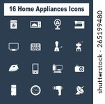 very useful home appliances... | Shutterstock .eps vector #265199480
