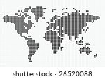 vector dotted world map | Shutterstock .eps vector #26520088