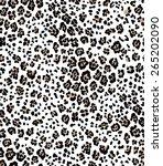 animalistic leopard pattern ... | Shutterstock .eps vector #265202090