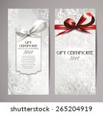 elegant white gift certificates ... | Shutterstock .eps vector #265204919