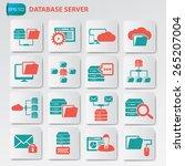 database server icon set on...