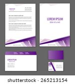 template corporate style. mock... | Shutterstock .eps vector #265213154