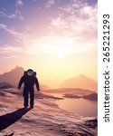 astronaut moves around the... | Shutterstock . vector #265221293
