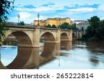 ancient stone bridge over ebro  ...