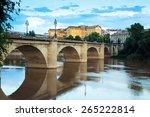 Ancient Stone Bridge Over Ebro...