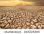 drought land and cracked earth... | Shutterstock . vector #265224344