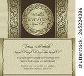 antique baroque wedding... | Shutterstock .eps vector #265224386