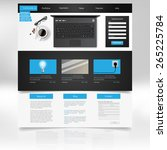 website template design. vector ...