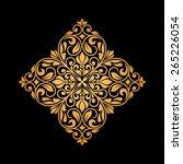 ornamental floral element for... | Shutterstock .eps vector #265226054