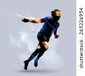 abstract soccer player... | Shutterstock .eps vector #265226954