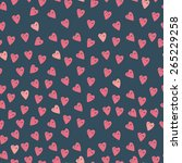 cute hand drawn hearts seamless ...   Shutterstock .eps vector #265229258