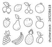 vector set flat illustration of ... | Shutterstock .eps vector #265238618
