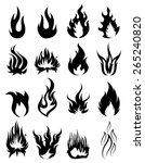 fire icons set | Shutterstock .eps vector #265240820