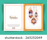 greeting card decorated with...   Shutterstock .eps vector #265252049