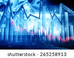 economical stock market graph   Shutterstock . vector #265258913