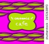 organic coffee menu | Shutterstock .eps vector #265263893