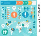 human issues infographics with... | Shutterstock .eps vector #265264706