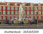 nice  france  on march 7  2015. ... | Shutterstock . vector #265265204