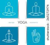 vector yoga illustration. set... | Shutterstock .eps vector #265272974