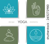 Постер, плакат: Vector yoga illustration Set