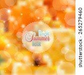 abstract orange background | Shutterstock .eps vector #265279460