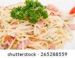 Pasta Carbonara With Ham And...