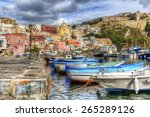 from the island of procida  bay ... | Shutterstock . vector #265289126