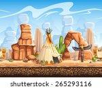 seamless horizontal background... | Shutterstock . vector #265293116
