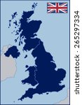 blank map of united kingdom | Shutterstock .eps vector #265297334