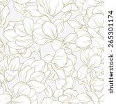 Elegant Linear Magnolia Flower...