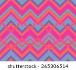 seamless colorful ethnic... | Shutterstock .eps vector #265306514