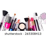 makeup and brushes cosmetic set ... | Shutterstock . vector #265308413