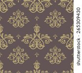 pattern in the style of baroque.... | Shutterstock .eps vector #265309430