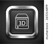 3d printer  on silver square... | Shutterstock .eps vector #265314899