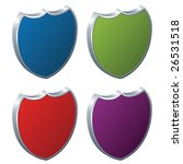 vector shields   3d badges | Shutterstock .eps vector #26531518