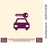 flat style  icon with rent a... | Shutterstock .eps vector #265321628