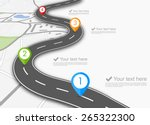 road infographic with colorful... | Shutterstock .eps vector #265322300