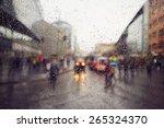 Street In The Heavy Rain  ...
