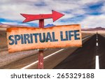 spiritual life sign with road... | Shutterstock . vector #265329188