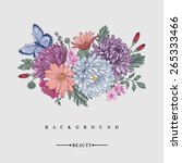 floral background. card with a... | Shutterstock .eps vector #265333466